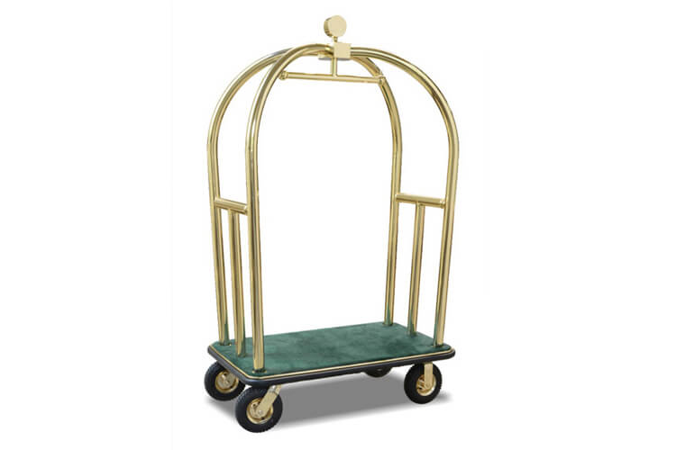 Bellman's Luggage Cart with Hunter Green Carpet