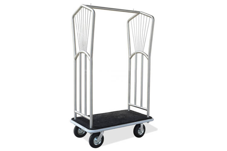 Brushed Stainless Steel Luggage Cart