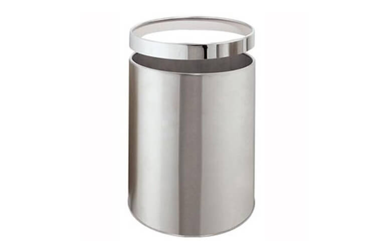 Brushed Steel Dustbin