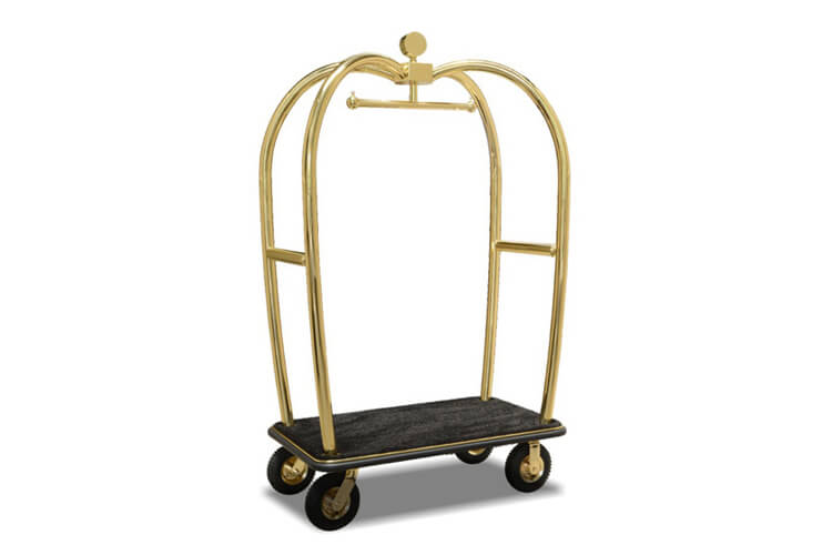 Hotel Luggage Cart in Brass