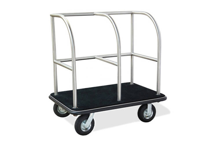 Hotel Luggage Trolley in Silver