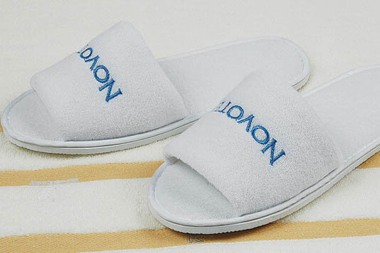 Hotel Terry Slippers with Logo