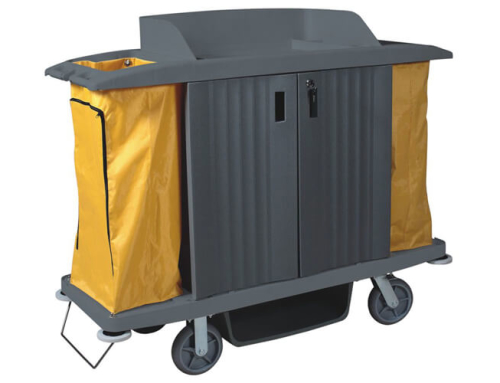 Housekeeping Trolley in Gray, Plastic