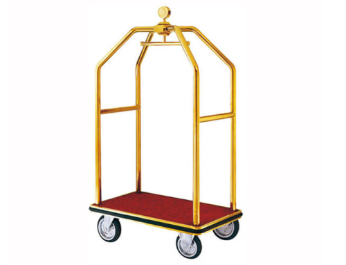 Luggage Trolley in Polished  Titanium Gold