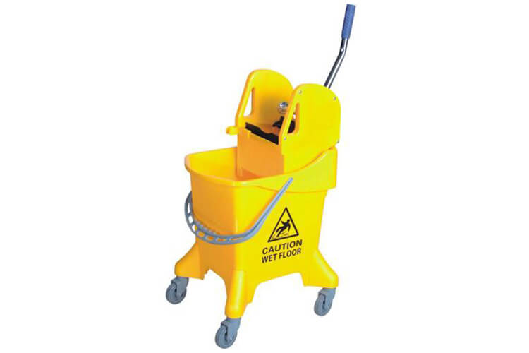 Mop Bucket, Caution Wet Floor