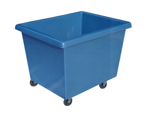 Plastic Laundry Cart in Blue