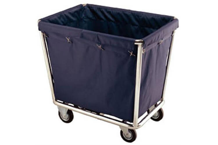Polished Steel Laundry Cart
