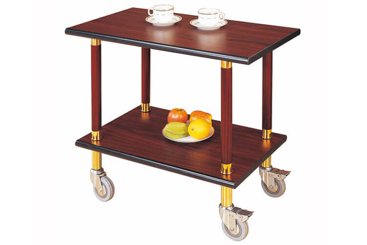 Serving Cart in Mahogany Finish