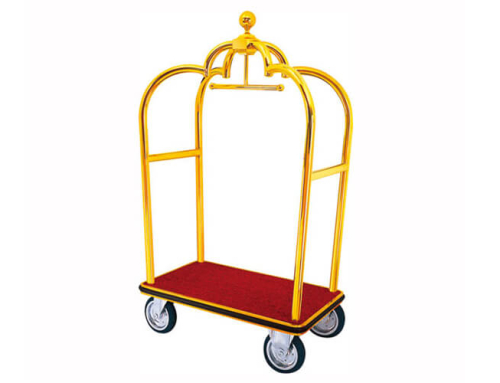 Crown Luggage Cart in Gold