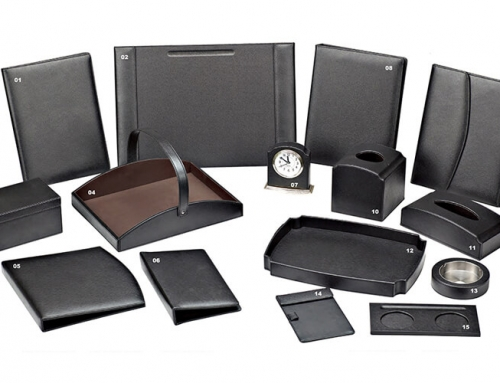 Hotel Leather Set in Black