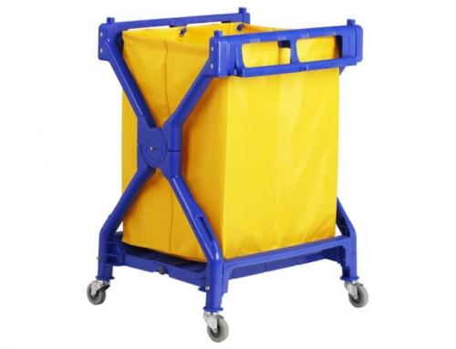 X-Frame Plastic Laundry Cart